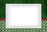 4x6 - Ribbon and Snowflakes - Green - 4x6 - Ribbon and Snowflakes - Green