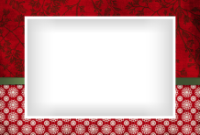 4x6 - Ribbon and Snowflakes - Red - 4x6 - Ribbon and Snowflakes - Red