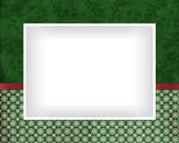 8x10 - Ribbon and Snowflakes - Green - 8x10 - Ribbon and Snowflakes - Green