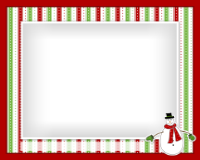 8x10 - Snowman and Stripes - 8x10 - Snowman and Stripes