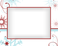 8x10 - Red and Blue Snowflakes - 8x10 - Red and Blue Snowflakes