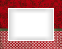 8x10 - Ribbon and Snowflakes - Red - 8x10 - Ribbon and Snowflakes - Red