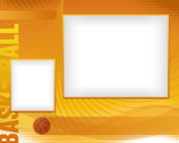 8x10 - Sports Border - Basketball - 8x10 - Sports Border - Basketball