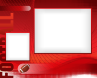 8x10 - Sports Border - Football - 8x10 - Sports Border - Football