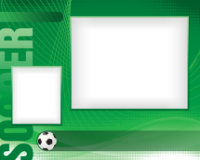 8x10 - Sports Border - Soccer - 8x10 - Sports Border - Soccer