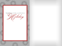 Wishing You a Joyous Holiday - Gray and Red - Wishing You a Joyous Holiday - Gray and Red
