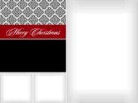 Merry Christmas - Scroll Pattern (3 images) - Merry Christmas - Scroll Pattern (3 images)