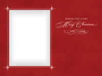 Wishing You a Very Merry Christmas - Elegant Red - Wishing You a Very Merry Christmas - Elegant Red