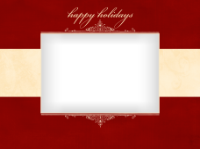 Happy Holidays - Elegant Frame - Happy Holidays - Elegant Frame