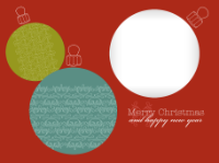 Merry Christmas and Happy New Year - Three Ornamen - Merry Christmas and Happy New Year - Three Ornamen