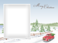 Merry Christmas - Old Red Truck - Merry Christmas - Old Red Truck
