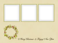 Merry Christmas and Happy New Year - Wreath (3 ima - Merry Christmas and Happy New Year - Wreath (3 ima