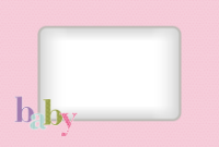 4x6 - Quilted Baby - Pink - 4x6 - Quilted Baby - Pink