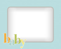 8x10 - Quilted Baby - Blue - 8x10 - Quilted Baby - Blue