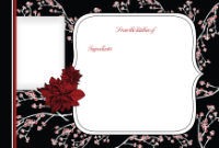 4x6 - Posh Poinsettia - 4x6 - Posh Poinsettia