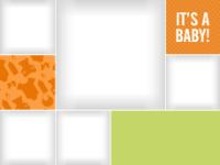 Baby Patterns - Orange - Baby Patterns - Orange