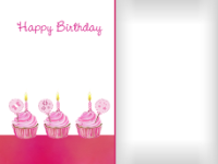 Sparkling Cupcakes - Pink - Sparkling Cupcakes - Pink
