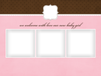Baby Girl - Initial Pink & Brown (3 images) - Baby Girl - Initial Pink & Brown (3 images)