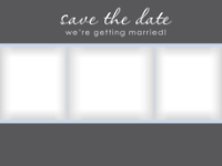 Save the Date - Blue/Gray Contemporary (3 images) - Save the Date - Blue/Gray Contemporary (3 images)