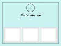 Just Married - Timeless Initials (3 images) - Just Married - Timeless Initials (3 images)