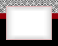8x10 - Red and Black Scroll - 8x10 - Red and Black Scroll