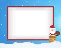 8x10 - Santa and Chimney - 8x10 - Santa and Chimney
