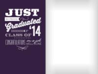 Congratulatory Graduate - Plum - Congratulatory Graduate - Plum